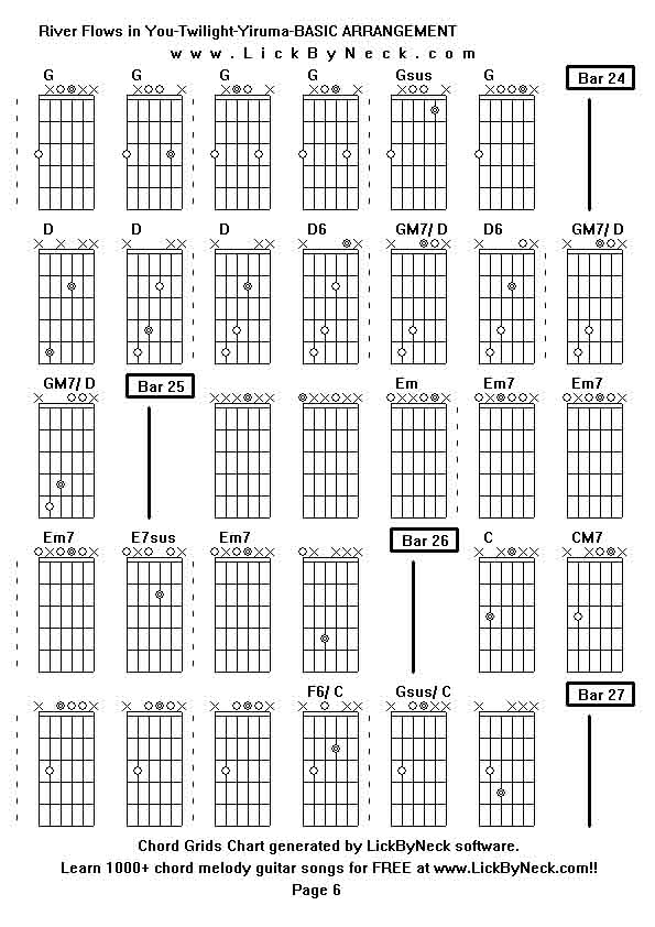 ukulele tabs river flows in you » Music Sheets, Chords, Tablature ...